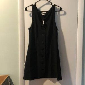 URBAN OUTFITTER BUTTON DOWN BLACK DRESS NEW